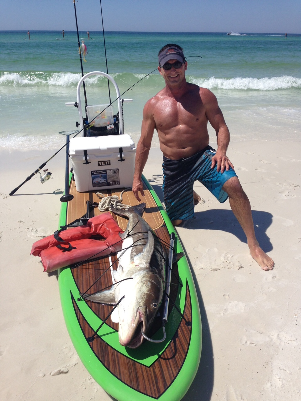 Destin paddle boarder has fish tale for the ages i love for Paddleboard for fishing