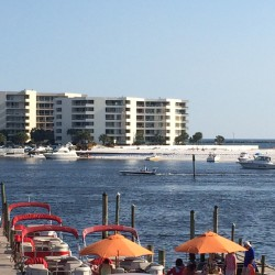 Pontoon on The Destin Harbor
