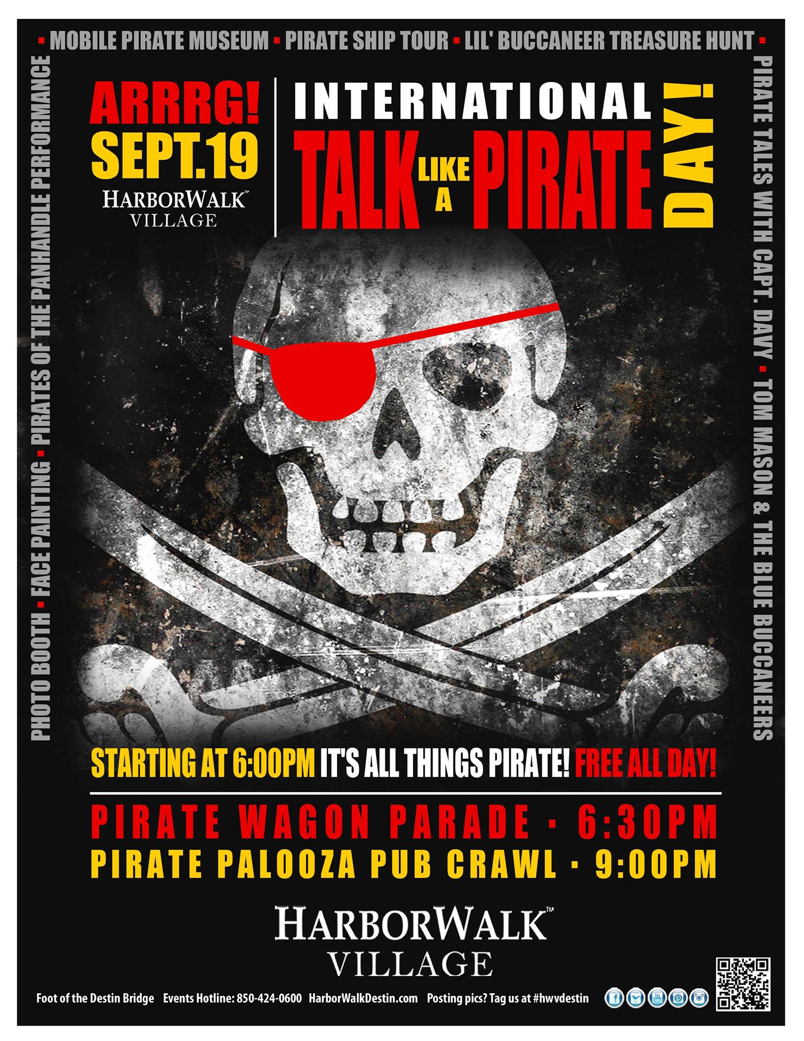 Destin Celebrates Talk Like A Pirate Day I Love Destin - Pirate museums in the us
