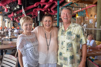 LuLu's 1st Destin Customers with Lucy Buffett in the middle