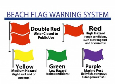 Destin Florida beach flag information