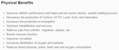 PHYSICAL BENEFITS OF FLOAT THERAPY